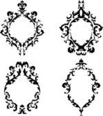 Ornate baroque frames vector set — Stock Vector