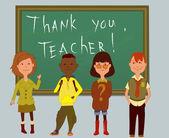 Thank you, teacher — Stock Vector