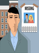 Missing happiness — Stock Vector