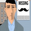 Missing Movember Mustache  — Stock Vector