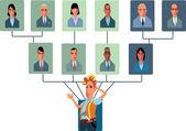 Top-Heavy Organizational Structure — Stock Vector