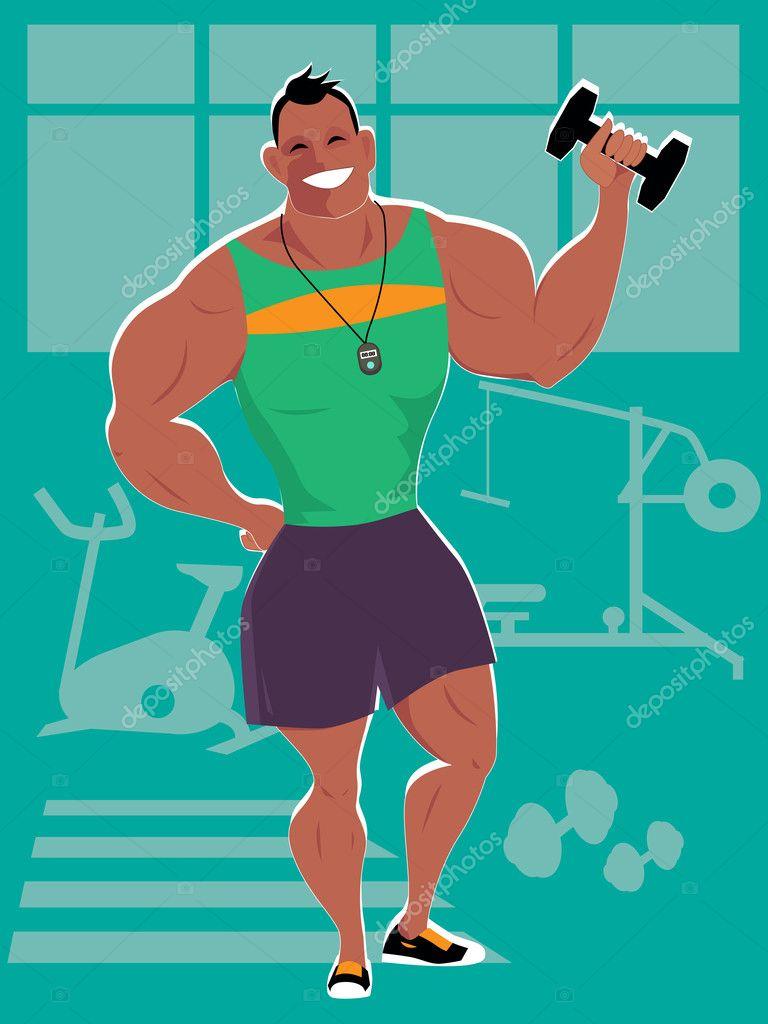 Personal trainer en el gimnasio archivo im genes - Imagenes de gimnasio ...
