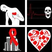 Prevención del infarto — Vector de stock