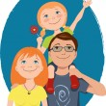 Cute cartoon family — Stock Vector