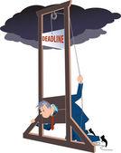 Under a deadline — Stock Vector