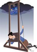 Credit card guillotine — Stock Vector