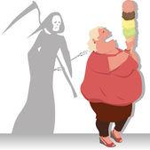 Dangerous diet — Stock Vector