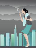 Danger of smoking — Stock Vector