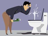Plumbing problem — Stock Vector