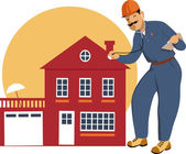 Home inspector — Stock Vector