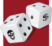 Dangerous dice — Stock Vector