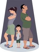 Divorce hurts children — Stock Vector
