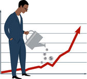 株式市場に投資 — ストックベクタ