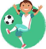 Fotbal dívka — Stock vektor