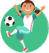 Voetbal meisje — Stockvector