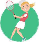 Young tennis player — Stockvektor