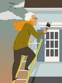 Fall house maintenance — Stock Vector