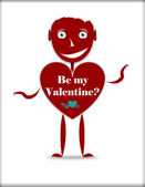 Red Head Valentine Character — Stock Photo