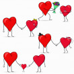 A couple of hearts — Stock Vector