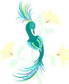 Fantastic birdie. — Stock Vector