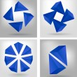 Royalty-Free Stock Vector Image: Four geometrical compositions