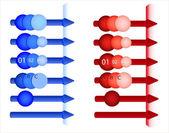 A set of elements — Stock Vector