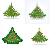 Bushy Christmas tree — Stock Vector