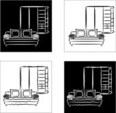 рисунок иконы мебель. — Cтоковый вектор