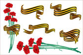 St.George ribbon and cloves. — Stock Vector