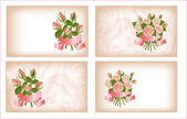 Four compositions of roses. — ストックベクタ