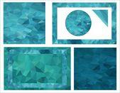 彩色背景的海瀑布 — 图库矢量图片