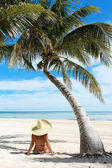 Relaxation at the beach — Stock Photo