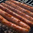 Summer bbq. bratwurst. smoked meats — Stock Photo #28802695