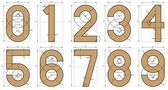 Numbers Font Technical Drawing — Vettoriale Stock