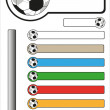 Football Bar Stickers With Copy Space — Stock Vector