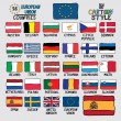 28 Flags of European Union Countries in Cartoon Style — Stock Vector