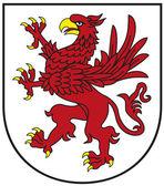 Zachodniopomorskie Province Crest - Red Griffin — Stock Vector