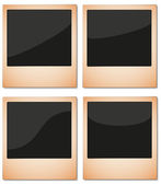 Aged Instant Photos Set — Stock Vector