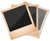 Three Aged Instant Photos In Group — Stock Vector