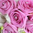 Pink Roses And White Orchid Bouquet — Photo