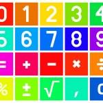 Calculator Icons in Flat Design — Stock Vector