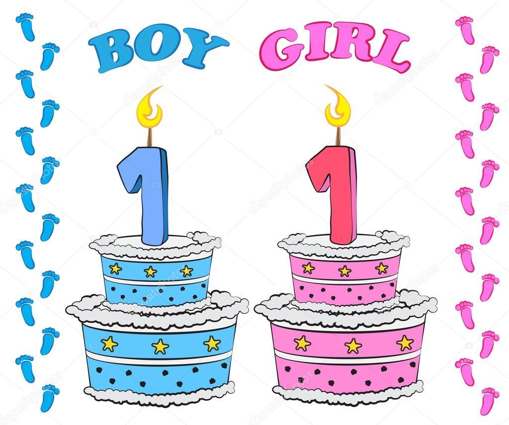 Happy First Birthday Boy Cakes