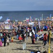 Постер, плакат: 16 February 2014 Mielno Poland: Guinness record breaking in Polar Bear Plunge