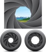 Shutter apertures — Stock Vector
