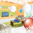 Christmas Room — Stock Vector