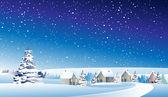 冬の風景 — Stock vektor
