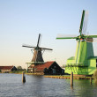 Windmills at the Zaanse Schans, the Netherlands — Stock Photo #19255411