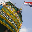 "The dutch tall ship ""Amsterdam"" in the harbor of Amsterdam - ストック写真"
