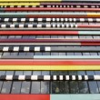 The colorful fasade of a building of the Hogeschool of Utrecht - Стоковая фотография