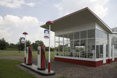 Traditional gasstation designed by the famous Dutch architect Willem Dudok — Stock Photo